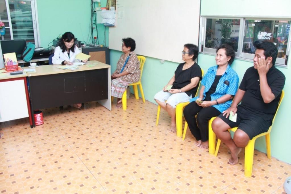 Regular health checkup at community clinic